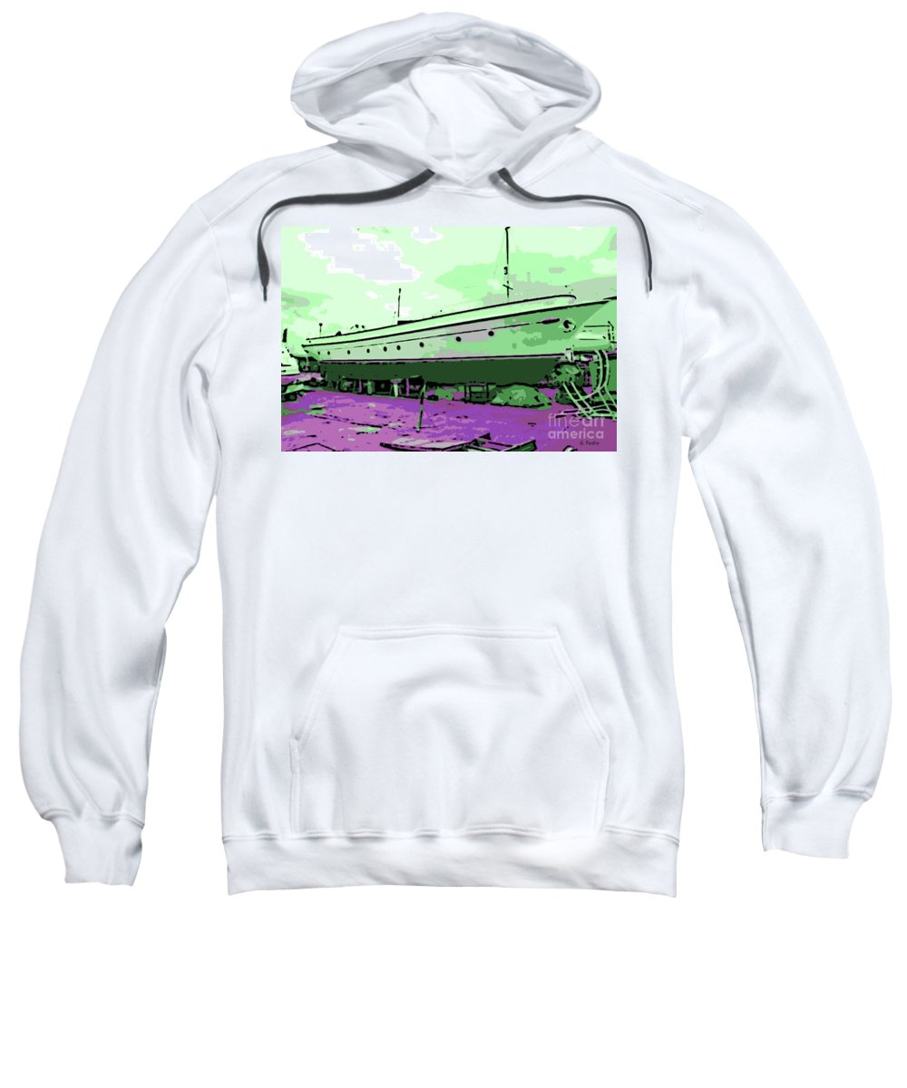 Dry Dock Sweatshirt featuring the photograph Dry Dock by George Pedro