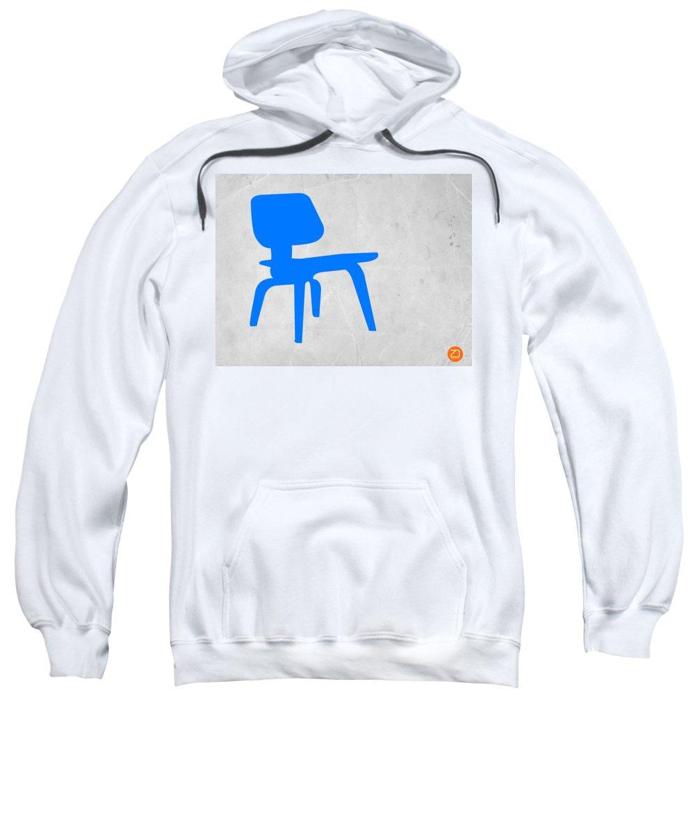Eames Chair Sweatshirt featuring the photograph Eames Blue Chair by Naxart Studio