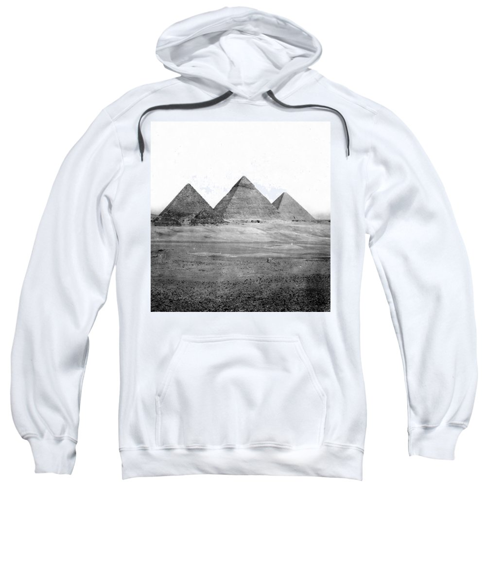 Egypt Sweatshirt featuring the photograph Egyptian Pyramids - C 1901 by International Images