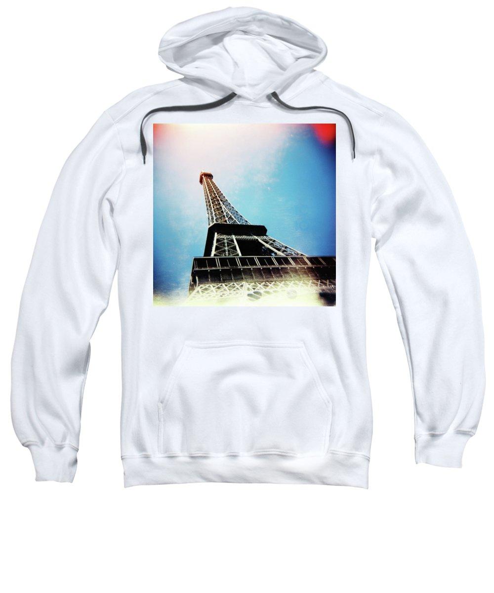 Holga Sweatshirt featuring the photograph Eiffel Tower by Olivier De Rycke
