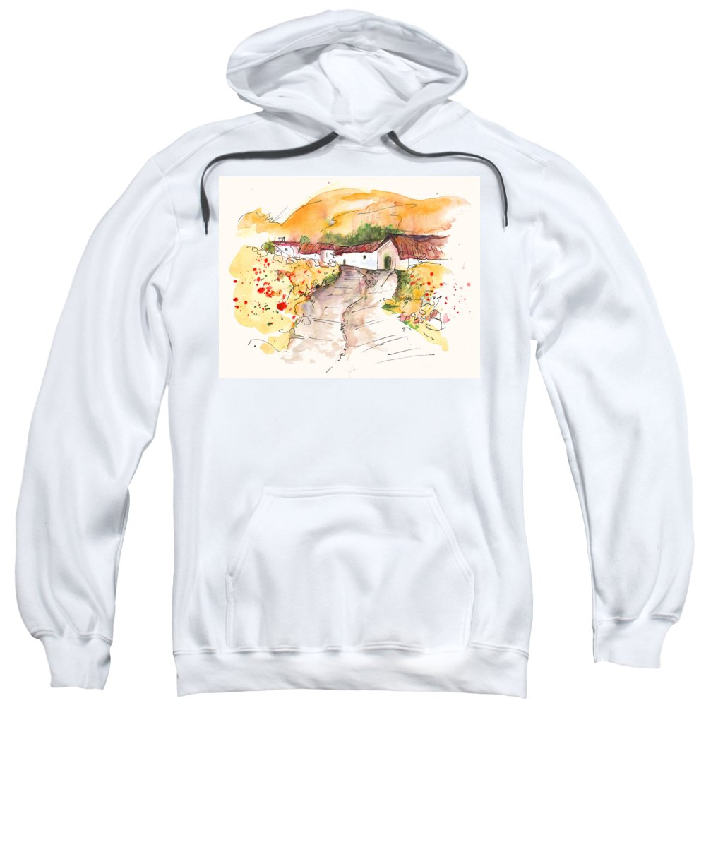 Travel Sweatshirt featuring the painting El Alcornocal 01 by Miki De Goodaboom