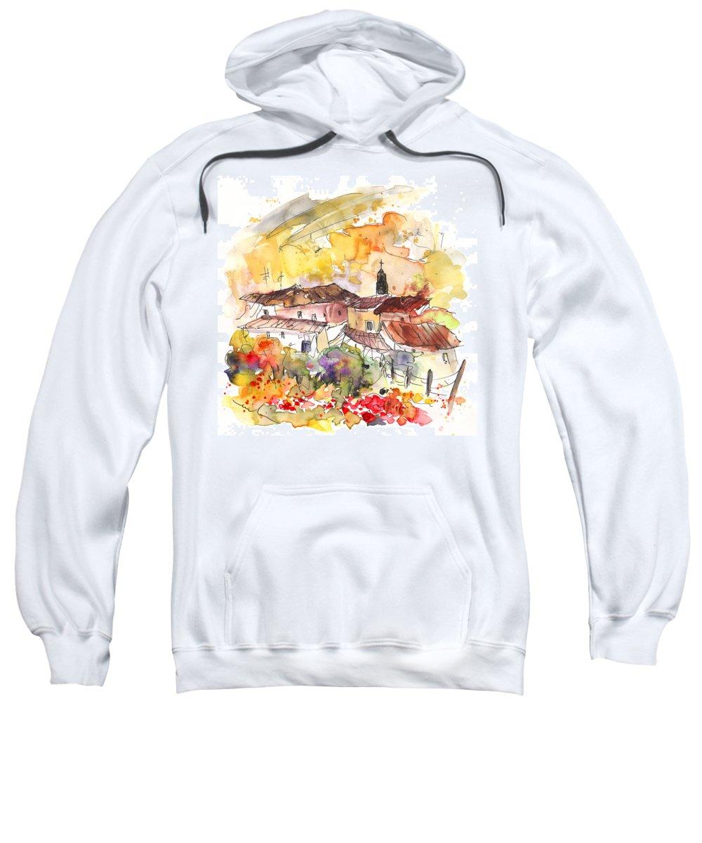Travel Sweatshirt featuring the painting El Alcornocal 06 by Miki De Goodaboom