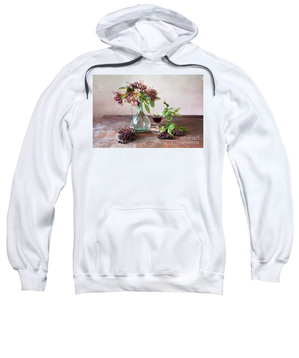 Autumn Sweatshirt featuring the photograph Elderberries 03 by Nailia Schwarz