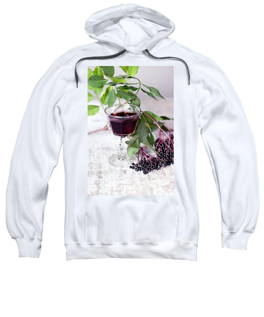Autumn Sweatshirt featuring the photograph Elderberries 04 by Nailia Schwarz