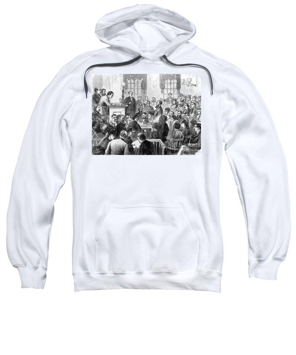 1871 Sweatshirt featuring the photograph Elizabeth Wharton Trial by Granger