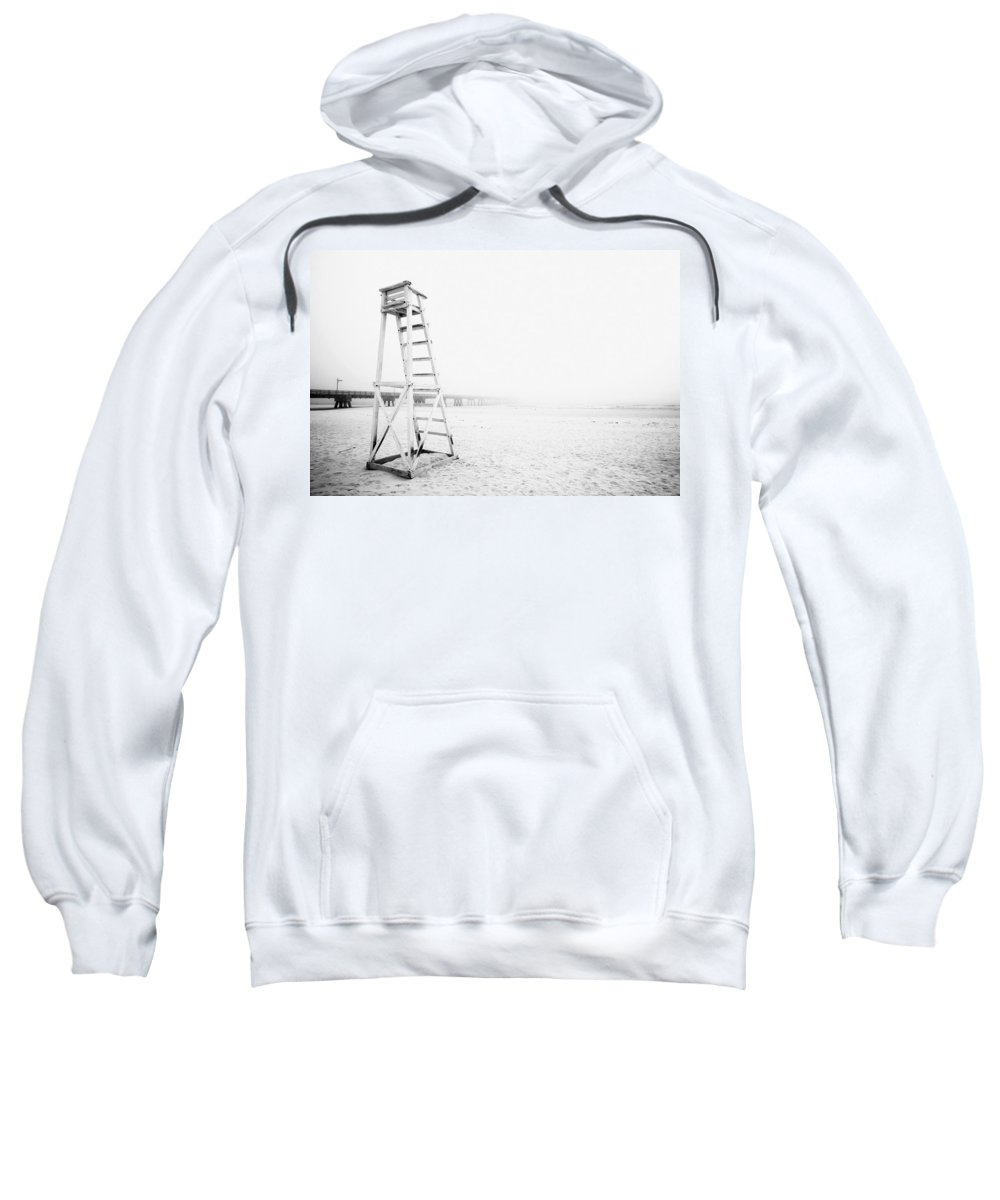 Absence Sweatshirt featuring the photograph Empty Life Guard Tower 2 by Skip Nall