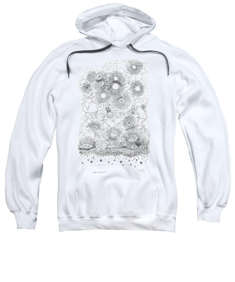Pen Sweatshirt featuring the painting Entropic Repulsion by Regina Valluzzi