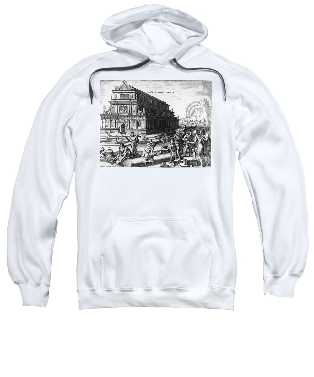 550 B. C. Sweatshirt featuring the photograph Ephesus: Temple Of Diana by Granger