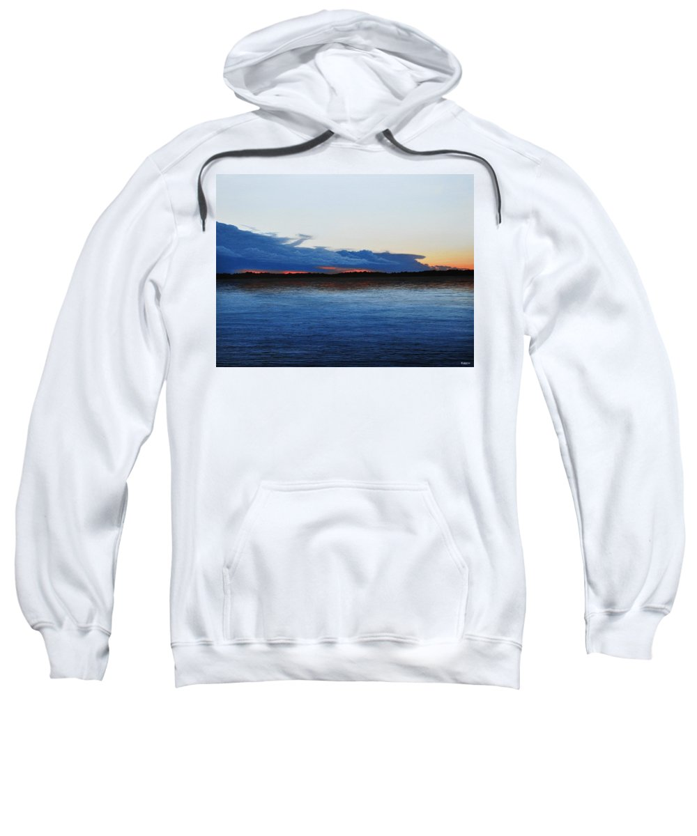 Landscape Sweatshirt featuring the painting Days End by Kenneth M Kirsch