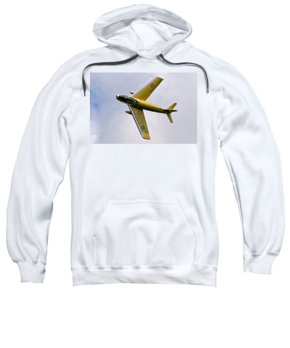Airshows Sweatshirt featuring the photograph F-86 Sabre Topside by Bill Lindsay