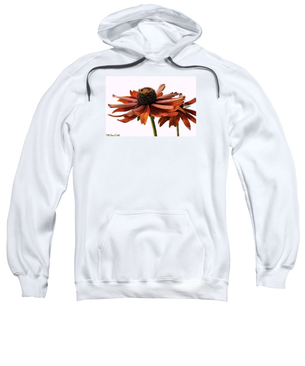 Photography Sweatshirt featuring the photograph Fall Girls by Susan Smith