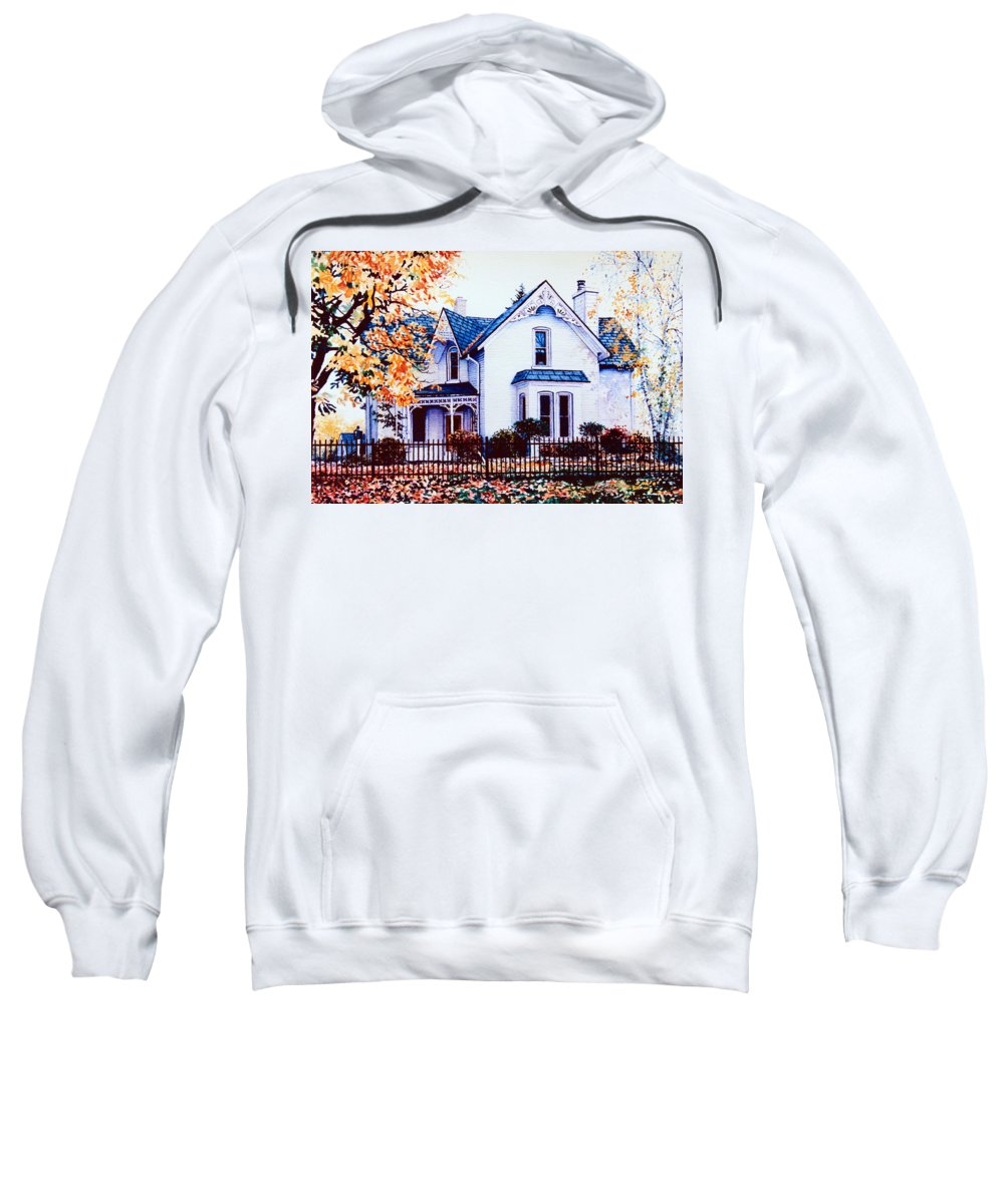 House Portrait Sweatshirt featuring the painting Family Home Portrait by Hanne Lore Koehler