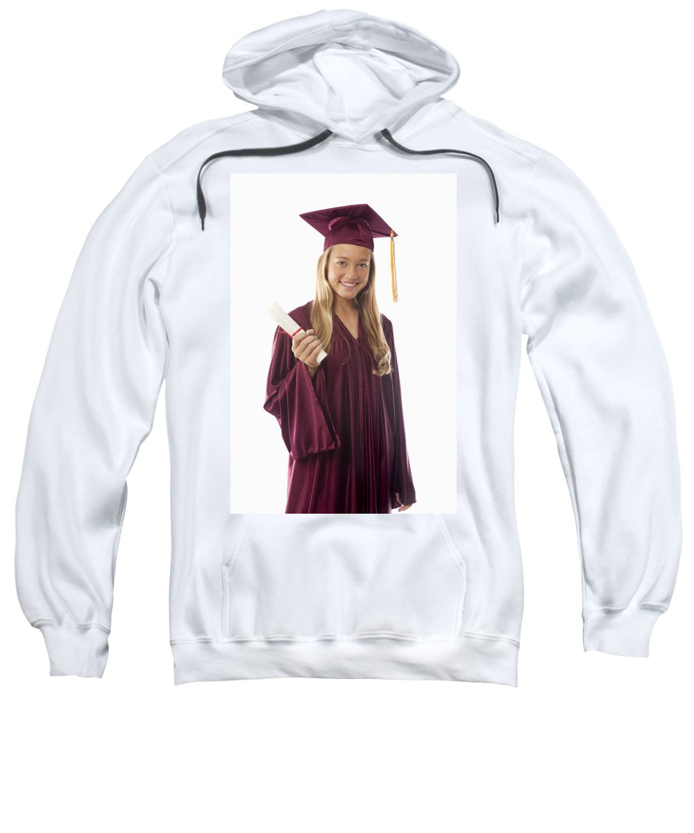 Accomplish Sweatshirt featuring the photograph Female Graduate II by Tomas del Amo