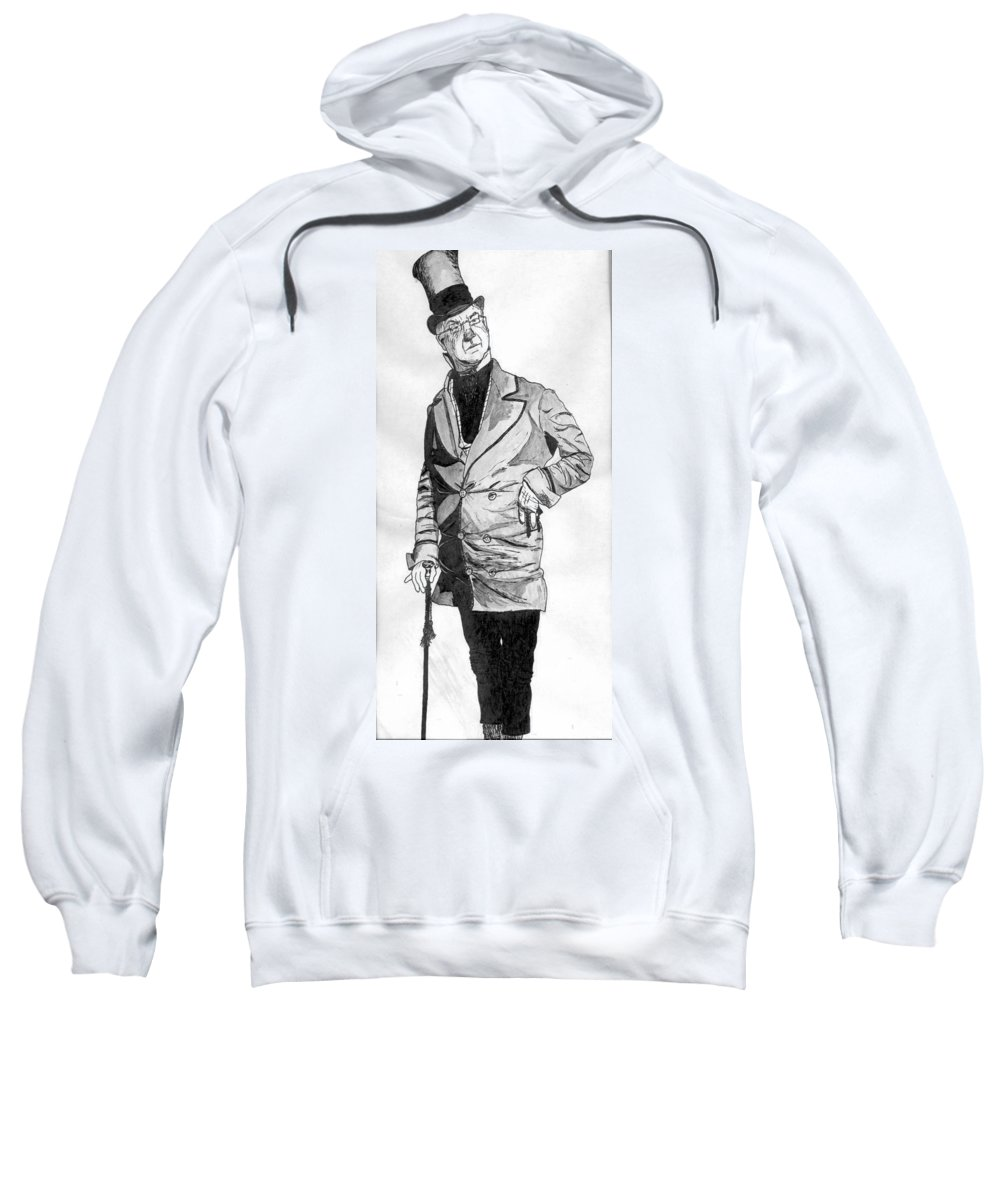 Portrait Sweatshirt featuring the drawing Fields As The Imperishable Wilkins Micawber by William Beyer