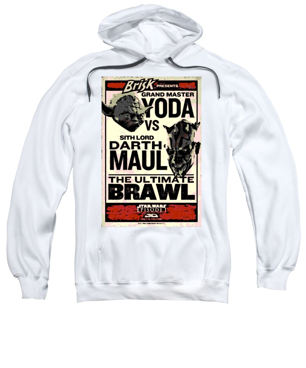 Poster Sweatshirt featuring the photograph Fight Poster by George Pedro