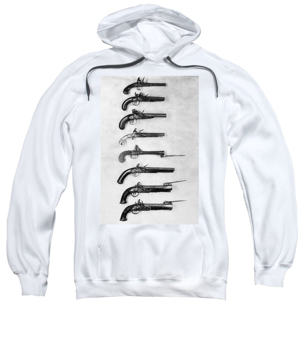 18th Century Sweatshirt featuring the photograph Flintlock Pistols by Granger