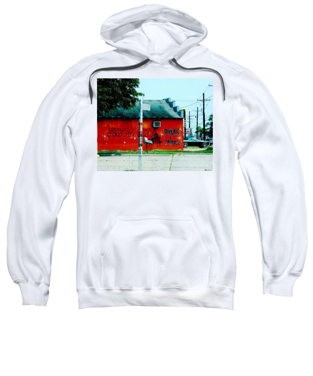 Urban Sweatshirt featuring the photograph Flippa City by Lizi Beard-Ward