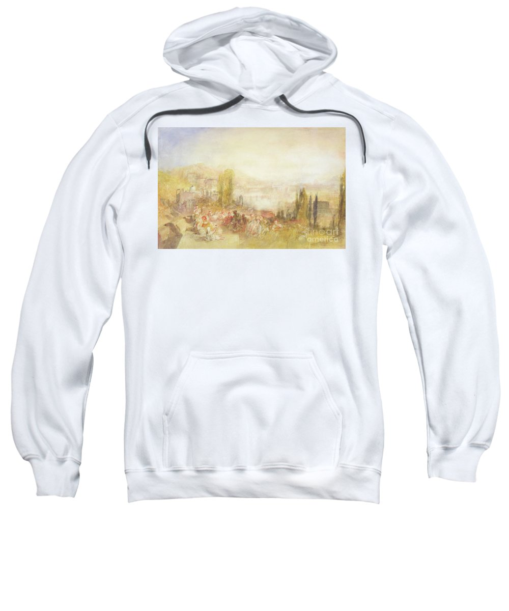 Florence Sweatshirt featuring the painting Florence by Joseph Mallord William Turner