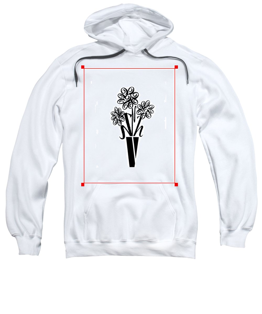 Flowers In Type Sweatshirt featuring the photograph Flowers In Type by Connie Fox