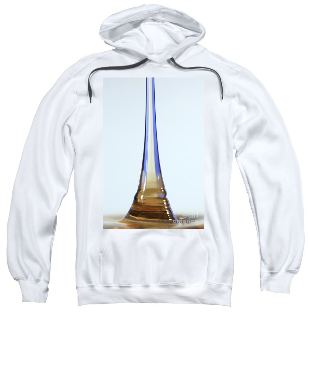 Viscosity Sweatshirt featuring the photograph Fluid Coiling Effect by Ted Kinsman