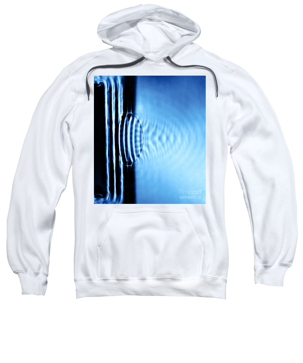Experiment Sweatshirt featuring the photograph Focusing Water Waves by Berenice Abbott