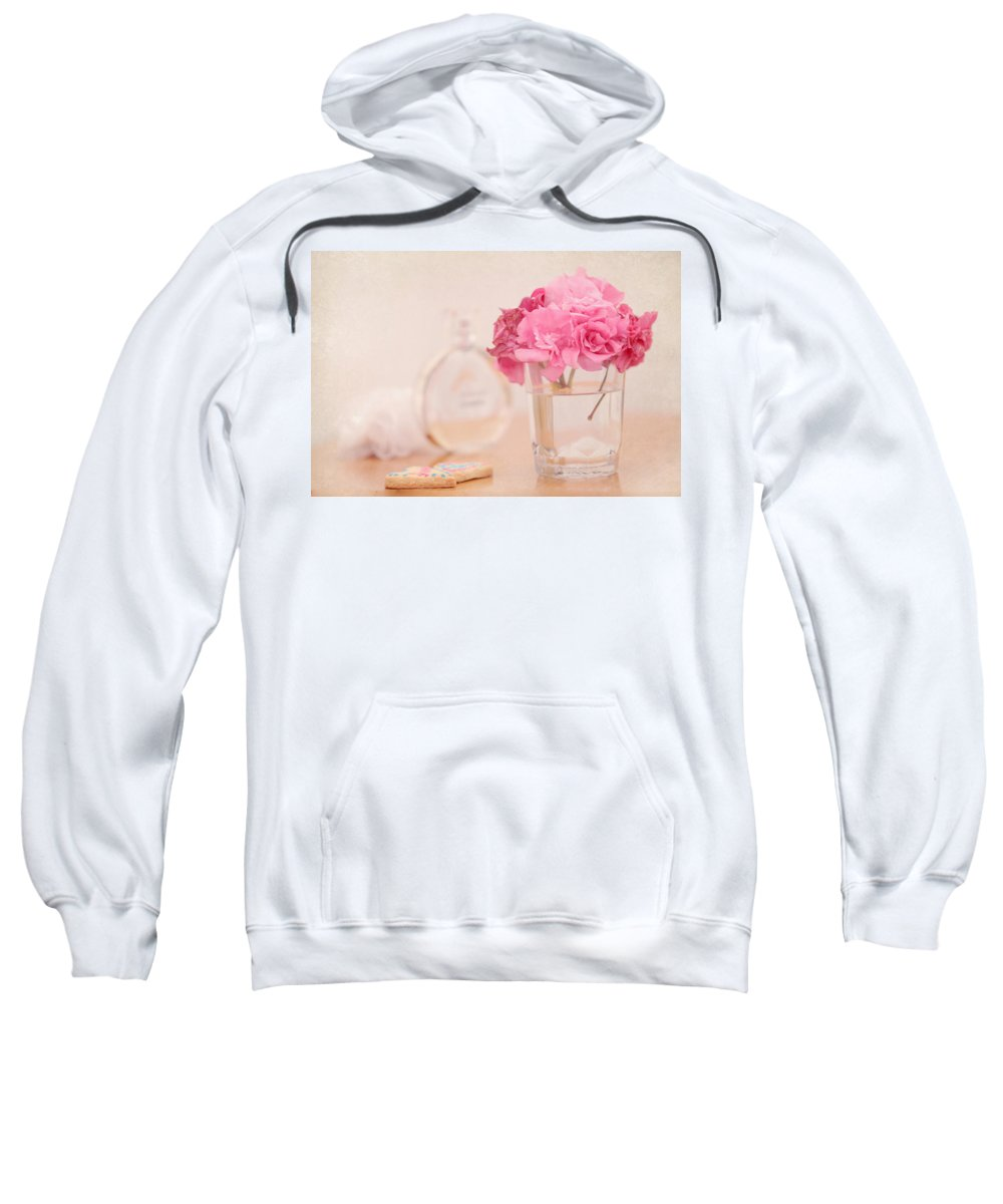 Boudoir Sweatshirt featuring the photograph For Her by Jenny Rainbow