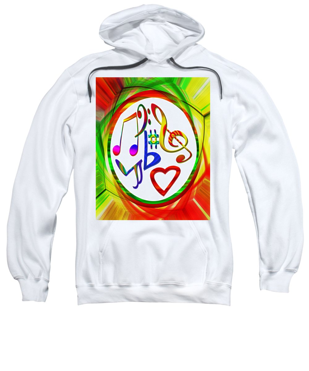 Colorful Sweatshirt featuring the photograph For The Love Of Music by Susan Leggett