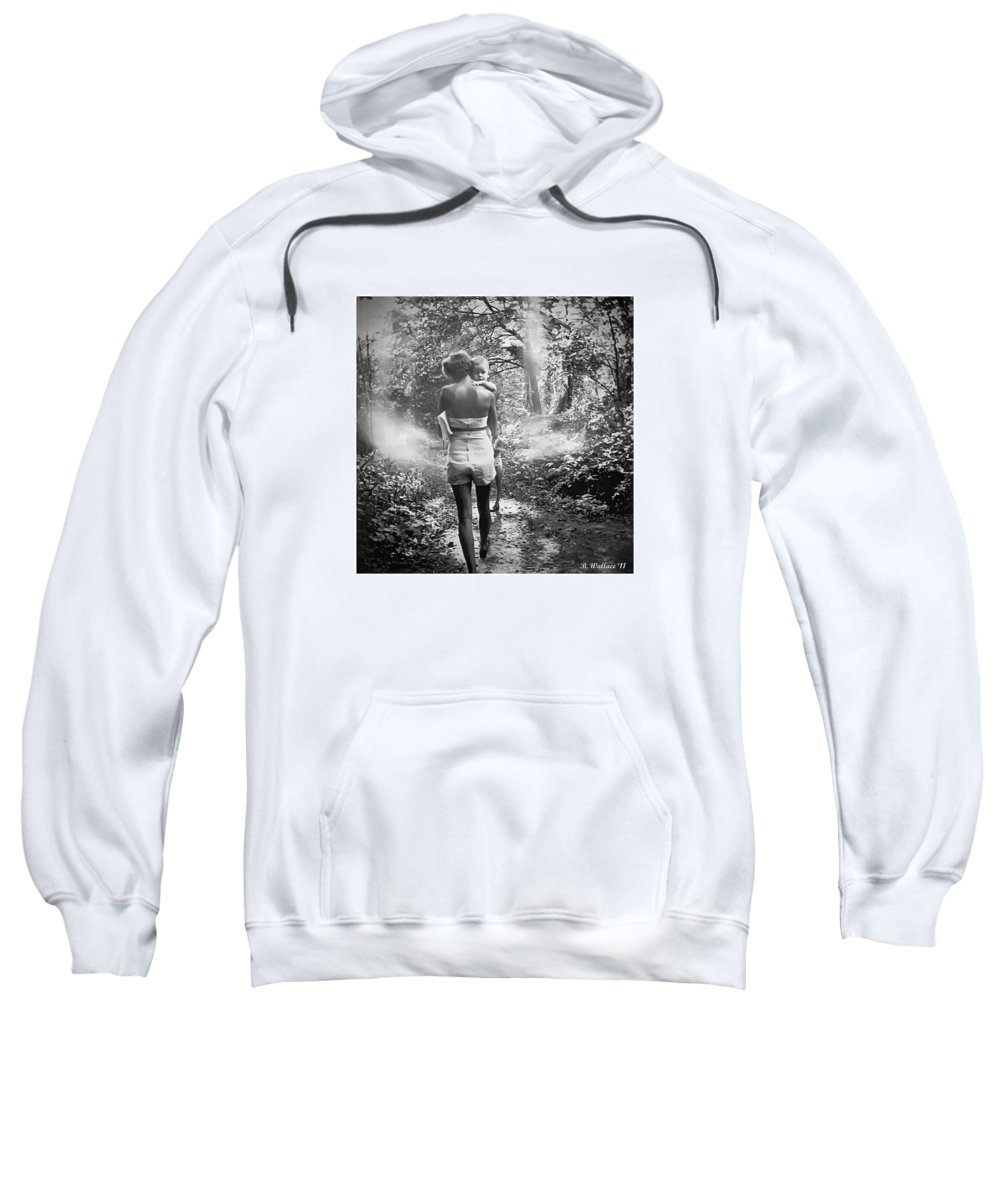 2d Sweatshirt featuring the photograph For Thou Art With Me by Brian Wallace