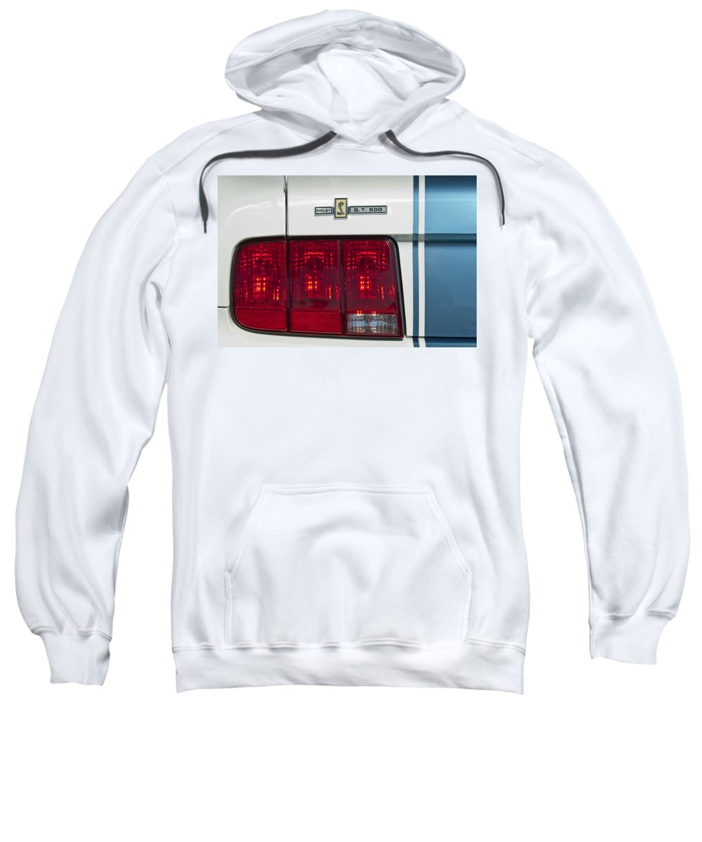 Ford Shelby Cobra Gt 500 Sweatshirt featuring the photograph Ford Shelby Cobra Gt 500 Taillight by Jill Reger