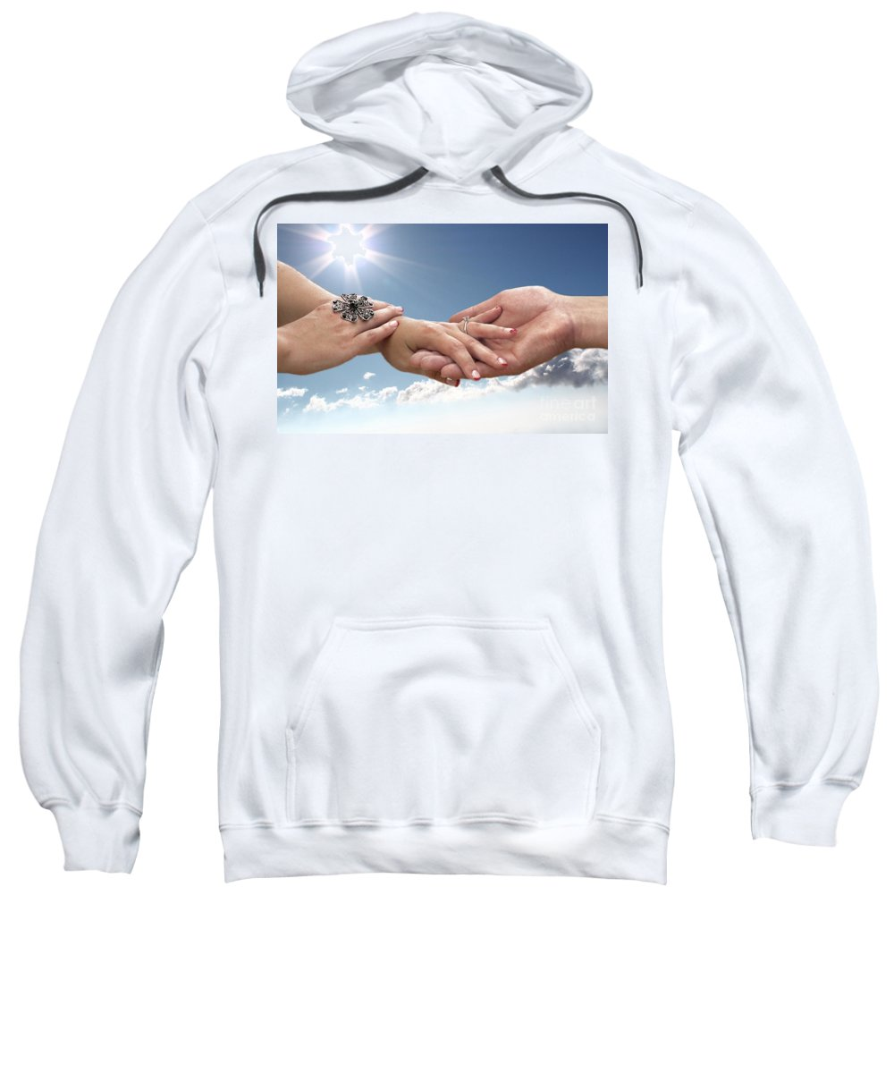 Wedding Sweatshirt featuring the photograph Forever Yours by Ellen Cotton