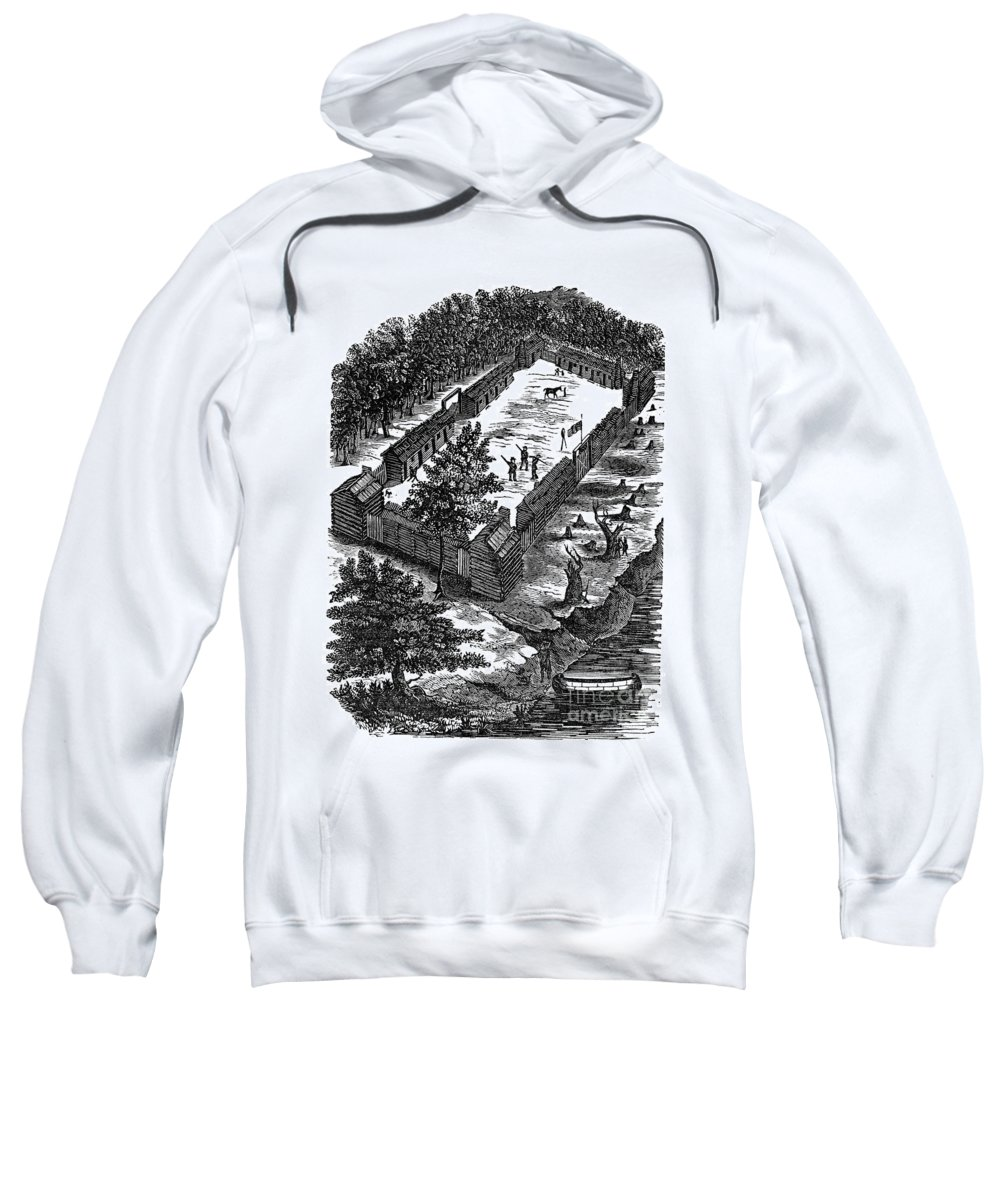1775 Sweatshirt featuring the photograph Fort Boonesborough, 1775 by Granger