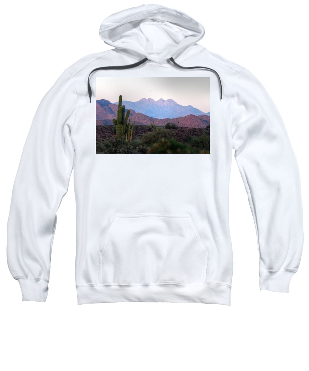 Four Peaks Sweatshirt featuring the photograph Four Peaks by Tam Ryan