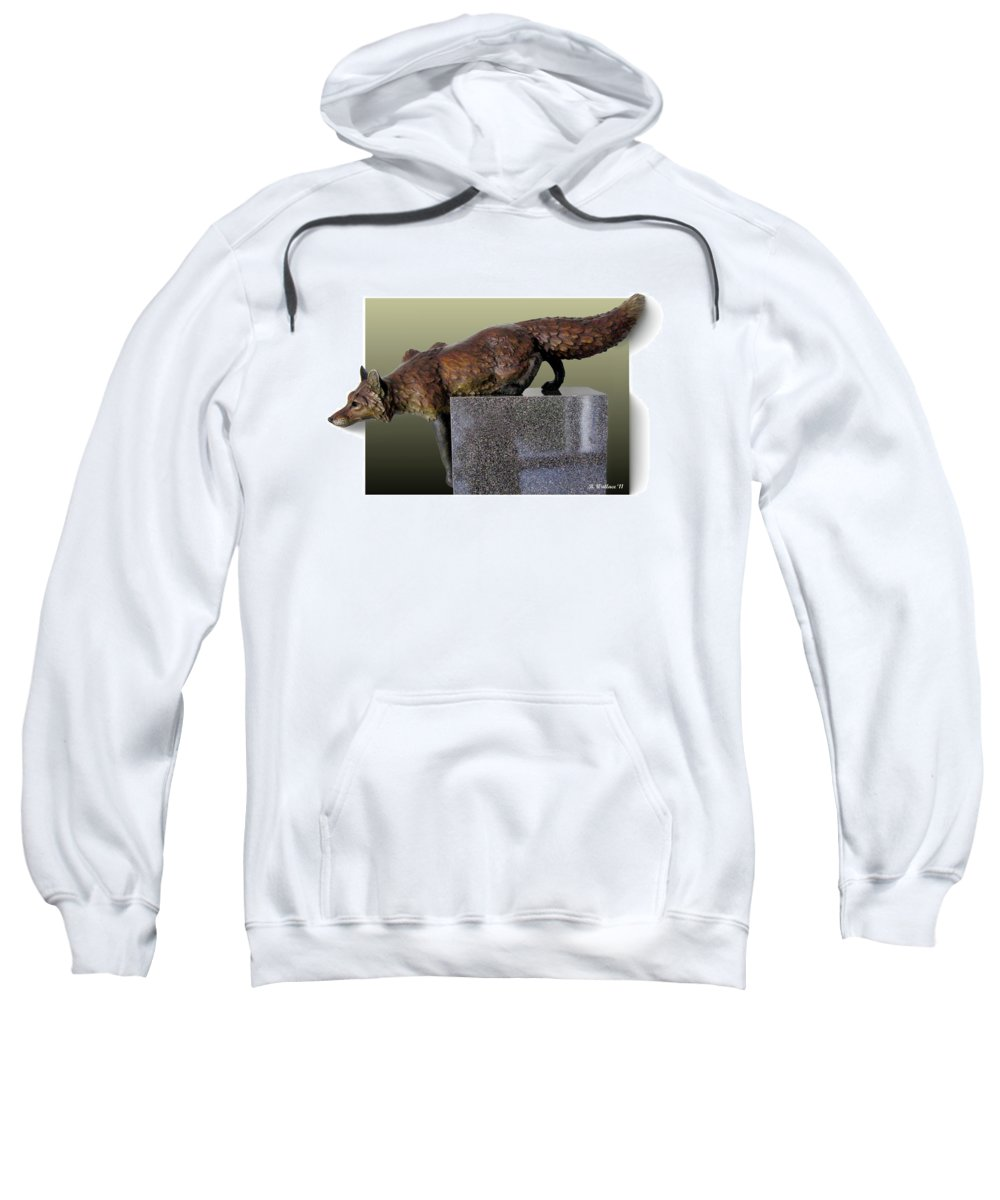 2d Sweatshirt featuring the photograph Fox On A Pedestal by Brian Wallace