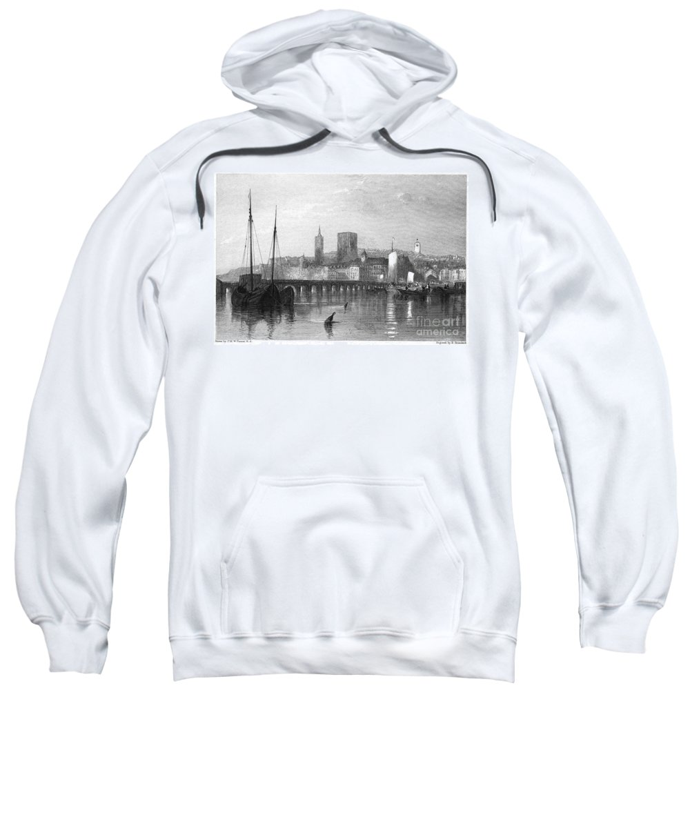 1835 Sweatshirt featuring the photograph France: Beaugency by Granger
