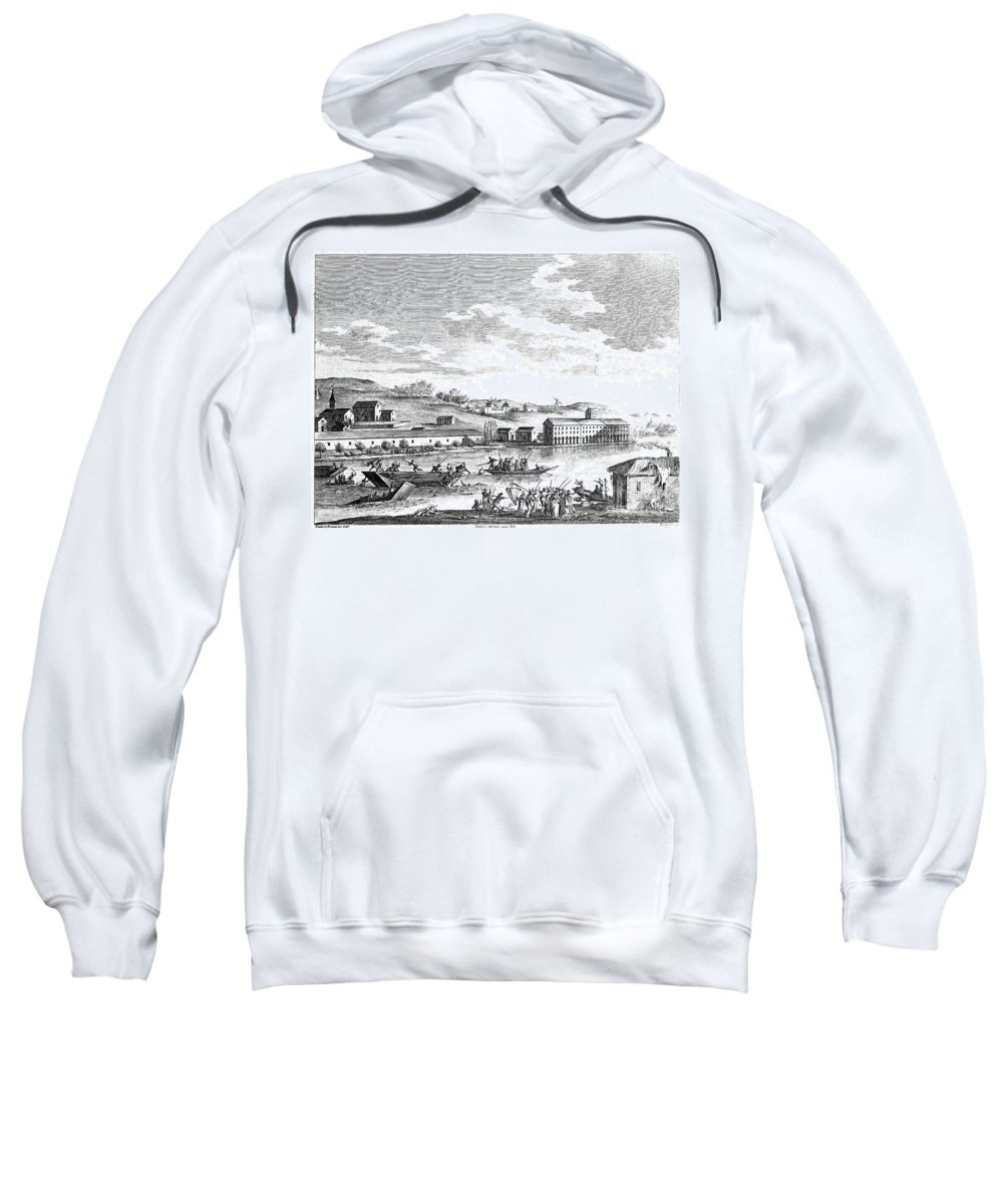 1793 Sweatshirt featuring the photograph French Revolution: Vendee by Granger