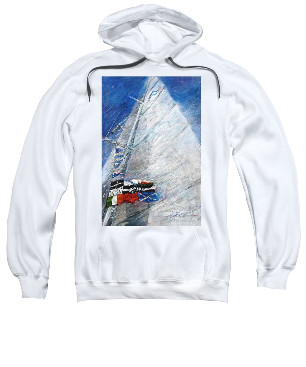Pastel Sweatshirt featuring the pastel Fresh Breeze by Yuriy Shevchuk