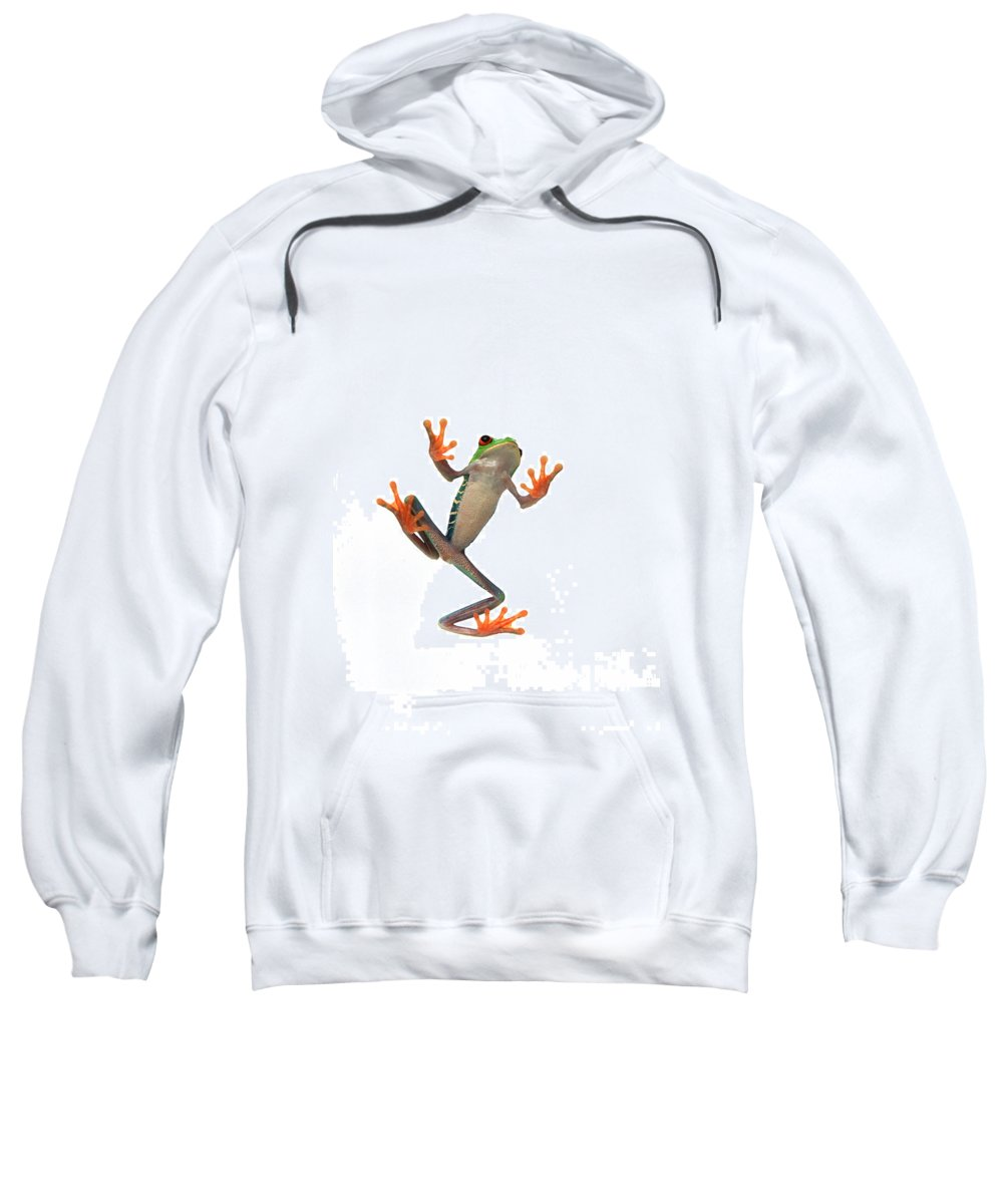 Exercise Sweatshirt featuring the photograph Frogs Belly by Corey Hochachka