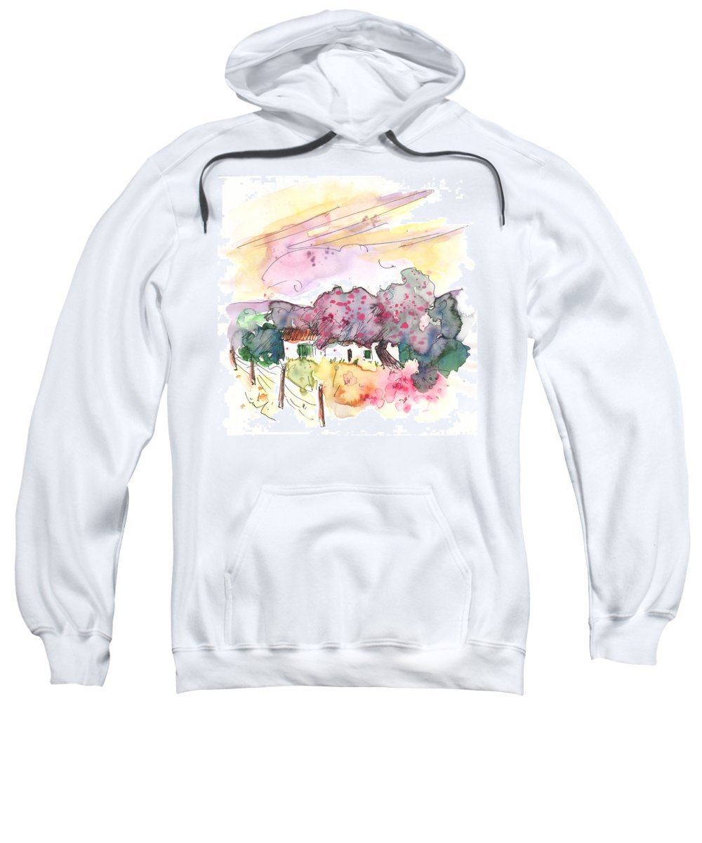 Travel Sweatshirt featuring the painting Fuente Obejuna 01 by Miki De Goodaboom