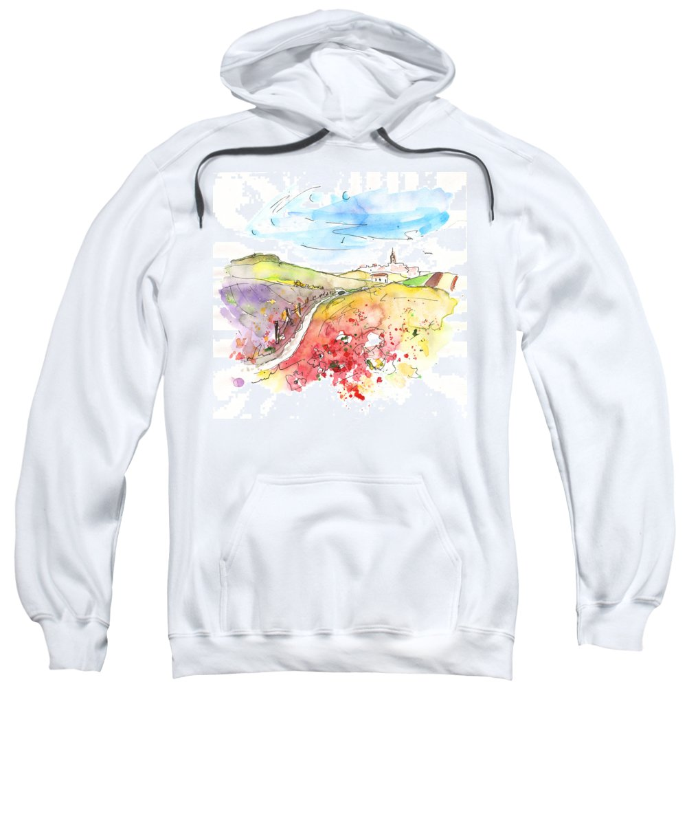 Travel Sweatshirt featuring the painting Fuente Obejuna 02 by Miki De Goodaboom