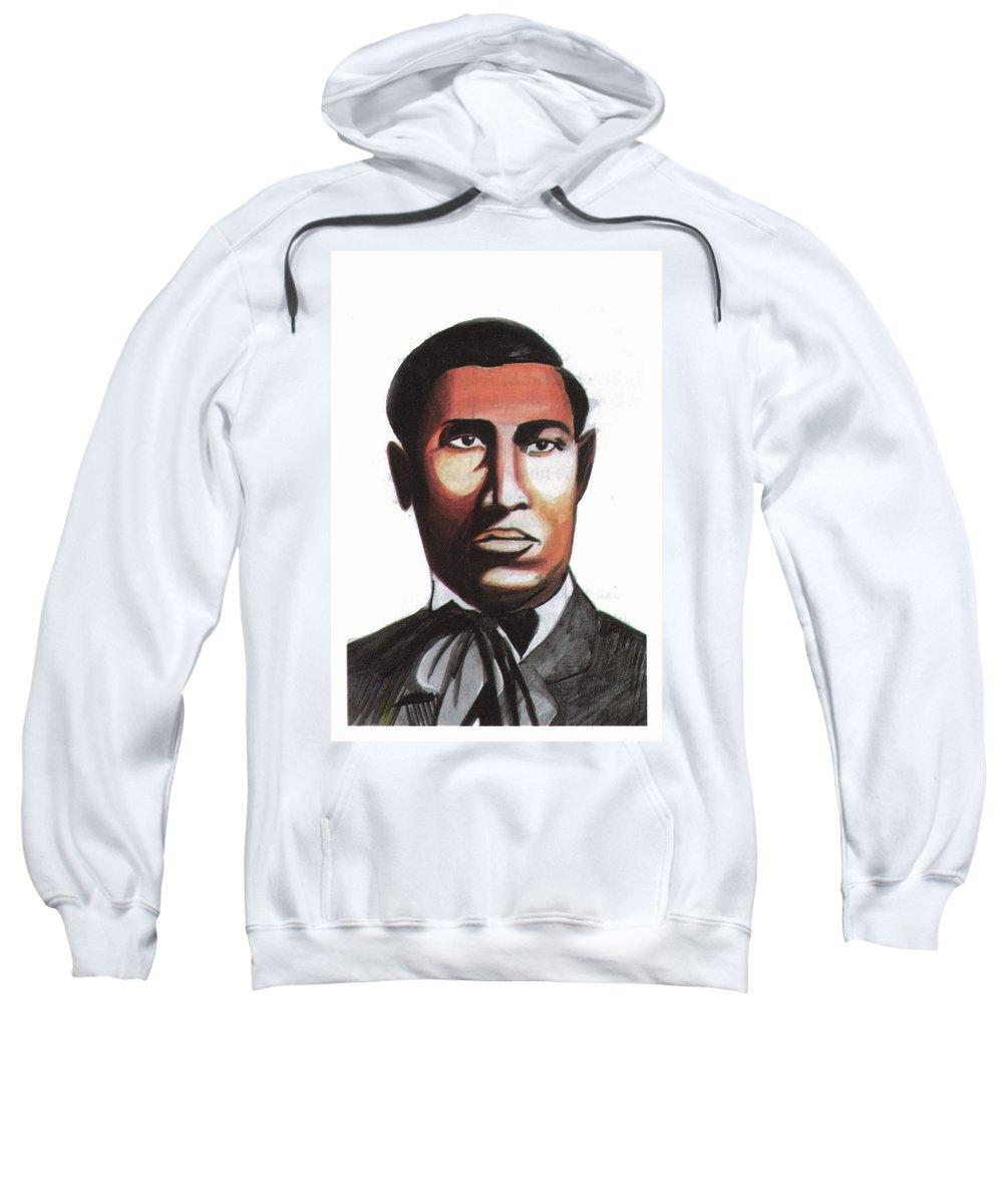 Portraits Sweatshirt featuring the painting Garrett Morgan by Emmanuel Baliyanga