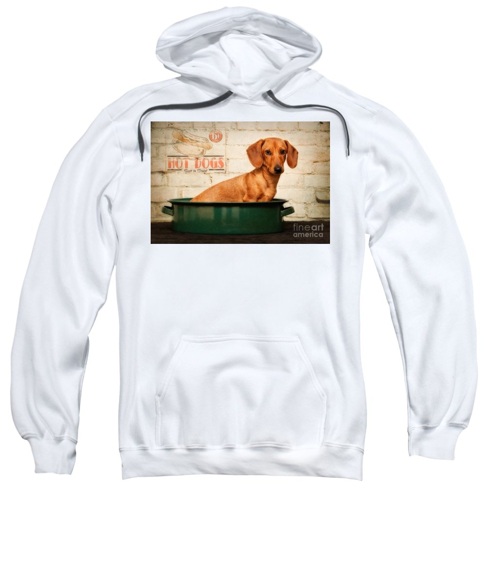Hot Sweatshirt featuring the photograph Get Your Hot Dogs by Susan Candelario