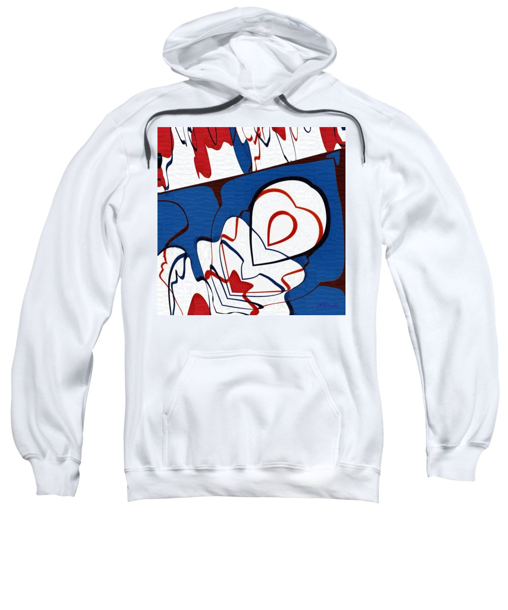Usa Sweatshirt featuring the digital art Getting Crushed by Alec Drake