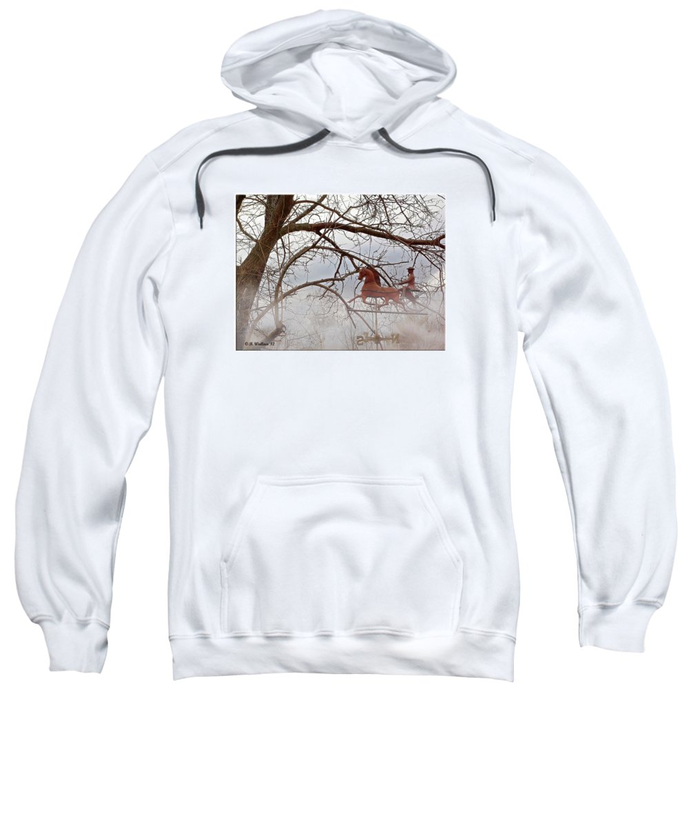 2d Sweatshirt featuring the photograph Gitty-up by Brian Wallace