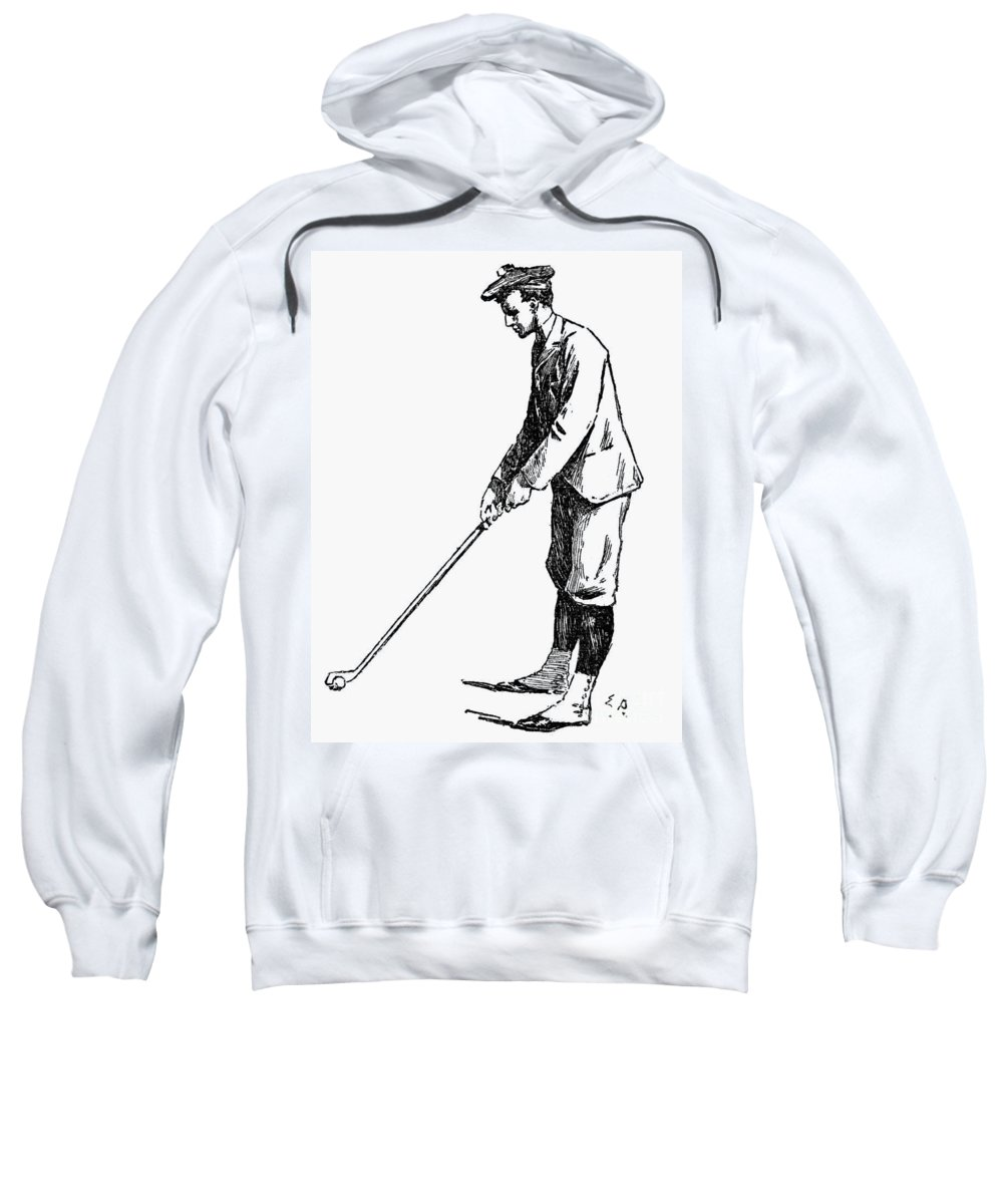 1891 Sweatshirt featuring the photograph Golf, 1891 by Granger