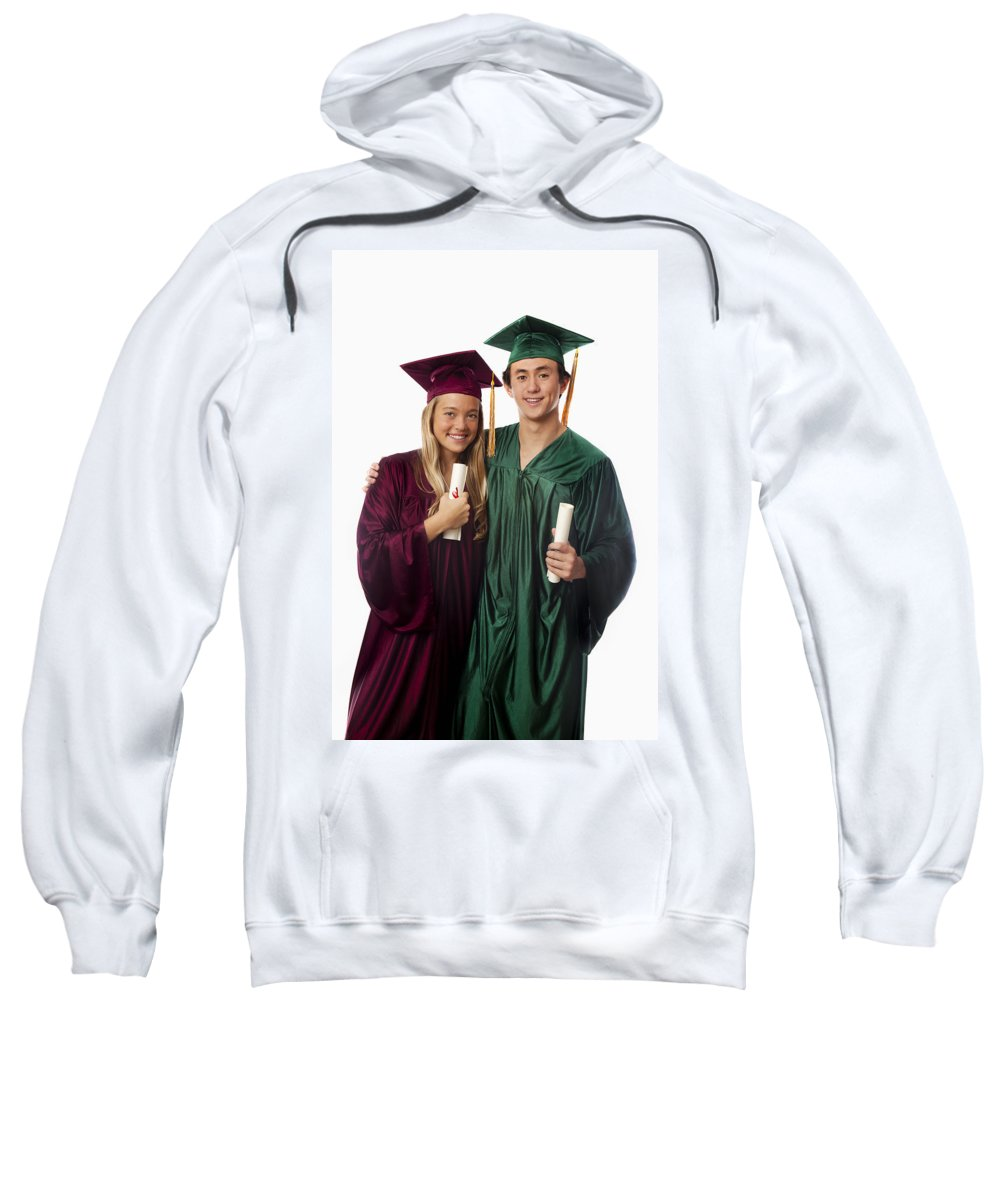 Accomplish Sweatshirt featuring the photograph Graduation Couple Iv by Tomas del Amo