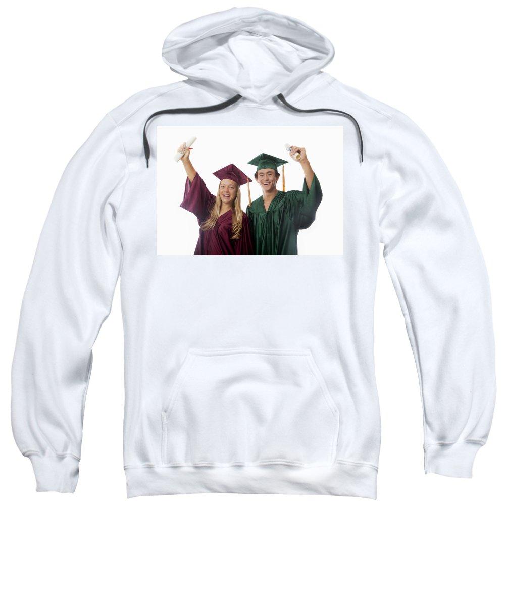 Accomplish Sweatshirt featuring the photograph Graduation Couple V by Tomas del Amo