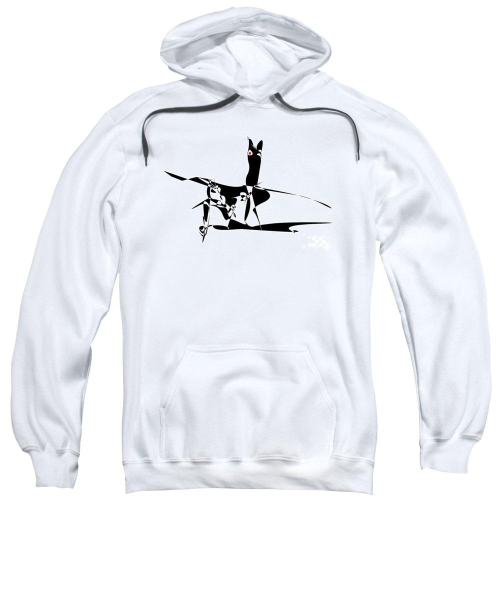 Graphics Sweatshirt featuring the digital art Horse 94 - Marucii by Marek Lutek