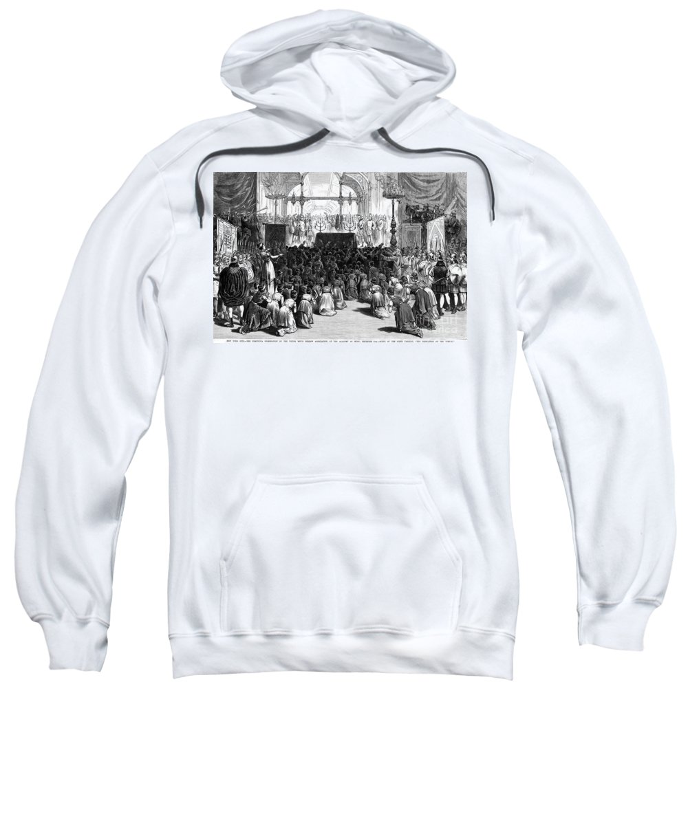 1880 Sweatshirt featuring the photograph Hannukah Celebration, 1880 by Granger