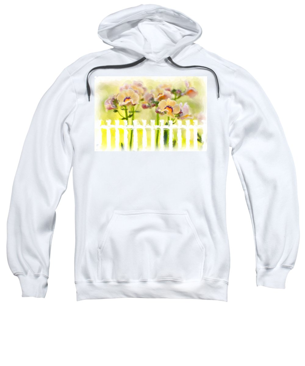 Nemesia Sweatshirt featuring the photograph Happy Flower Faces by Heidi Smith