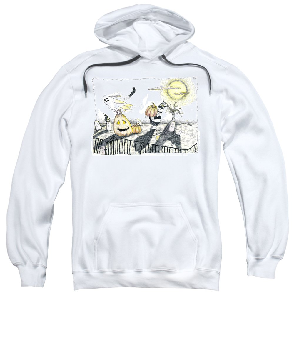 Color Pencil Drawing Sweatshirt featuring the photograph Happy Halloween by Michael Mooney